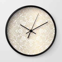 Gold Mandala Wall Clock