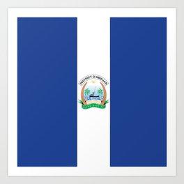 Flag of Abidjan Art Print