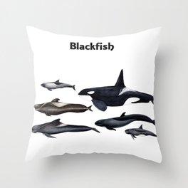 Blackfish Throw Pillow