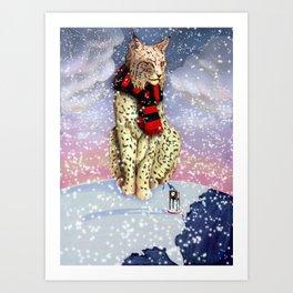 Frostburg Bobcat - Winter Edition  Art Print