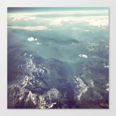 Aerial View of the French Alps Canvas Print