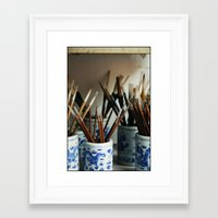 calligraphy Framed Art Prints featuring Calligraphy by HYCROFT