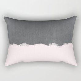 Pink Paint on Concrete Rectangular Pillow