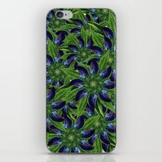 Vintage Blue Floral Pattern Collage iPhone & iPod Skin