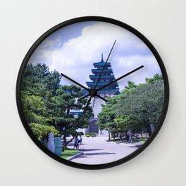 Cities South Korea Trees National Museum of Korea Parks Seoul park museums Wall Clock