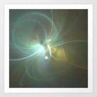 Holiday Glow Fractal Art Print