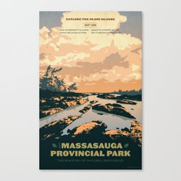 The Massasauga Park Poster Canvas Print