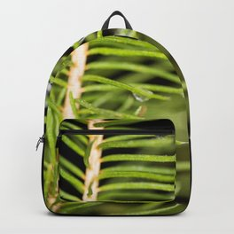 Spruce branch with drops Backpack