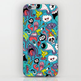 Doodled Pattern iPhone Skin