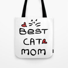 Best cat mom Tote Bag