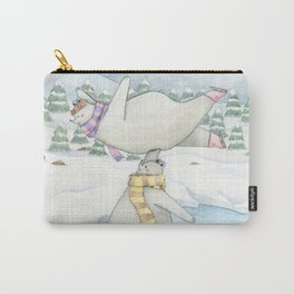 Figure skating polar bears Carry-All Pouch