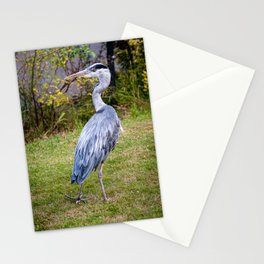 Heron on Patrol Stationery Cards