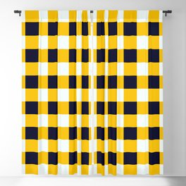 Yellow Chessboard Blackout Curtain