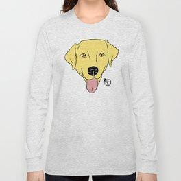 Yellow Lab Face Long Sleeve T-shirt