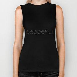 Peaceful (black) T-Shirt & Pillow & Tote Bag Biker Tank