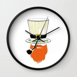 Happy St. Patricks Day Shirt Wall Clock