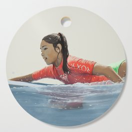 Roxy surf girl Cutting Board