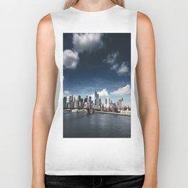nyc skyline panoramic view Biker Tank