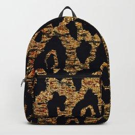 ANIMAL PRINT CHEETAH LEOPARD BLACK AND GOLDEN BROWN Backpack