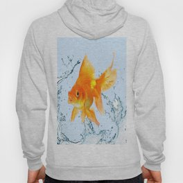 JUMPING  GOLDFISH SPLASHING  WATER ART Hoody
