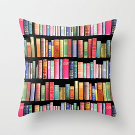 Christmas Antique Book Library for Bibliophile.bookworm, book lover, library, teachers , students, Throw Pillow