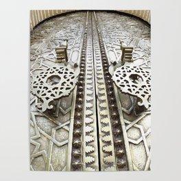 Marocco Door Mosaic Style Design Metal Poster
