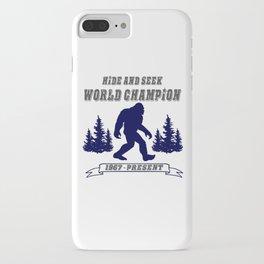 Hide and Seek World Champion Bigfoot iPhone Case