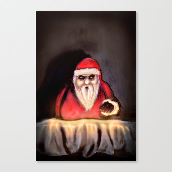 Black Xmas: Santa Claus is Here Canvas Print