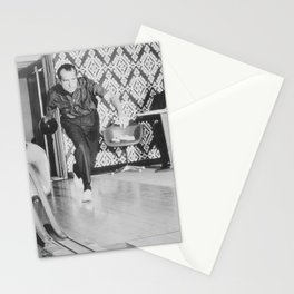 President Richard Nixon Bowling At The White House Stationery Cards