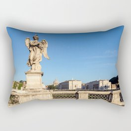 Angel with the Crown of Thorns at the Sant'Angelo bridge - Rome Rectangular Pillow