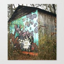 graffiti barn Canvas Print