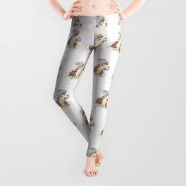 Thumper With Flowers Leggings