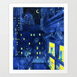 music of the night Art Print