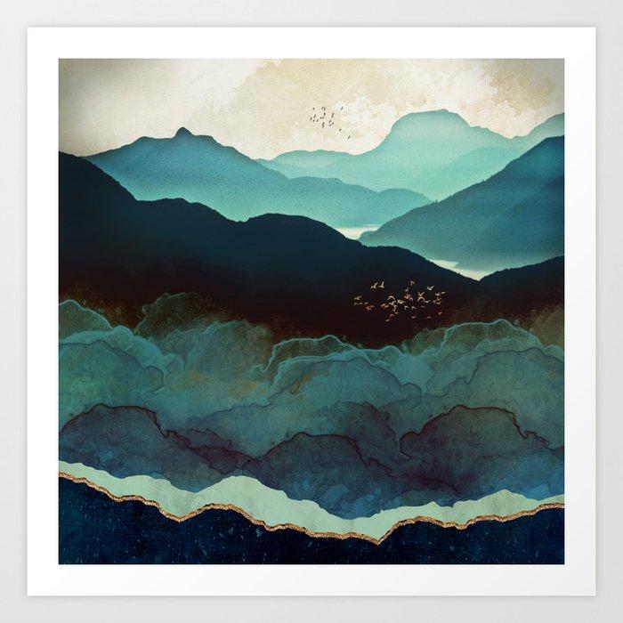 Indigo Mountains Kunstdrucke