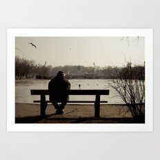 Man in the park. Budapest Art Print