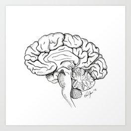 Brain in Ink Art Print