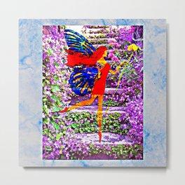 Beautiful fairy and flower Metal Print