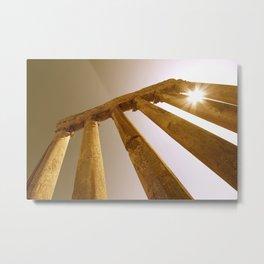 Ancient Roman Columns Metal Print