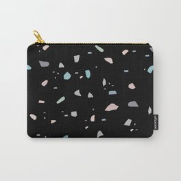 Pastel Black Terrazzo #1 #decor #art #society6 Carry-All Pouch