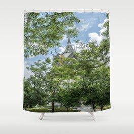 Memorial at Choeng Ek, Killing Fields, Cambodia Shower Curtain