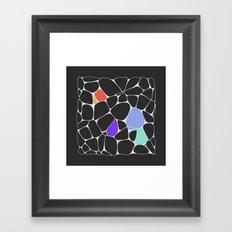 Voronoi Framed Art Print