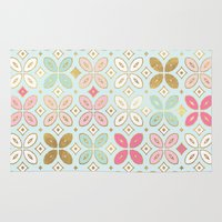 moroccan Area & Throw Rugs featuring MOROCCAN TILE by Monika Strigel