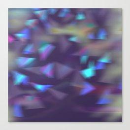 Christmas lights violet Canvas Print