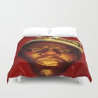 biggie Duvet Covers featuring biggie by Cree.8