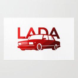 Lada 2107 - classic red - Rug