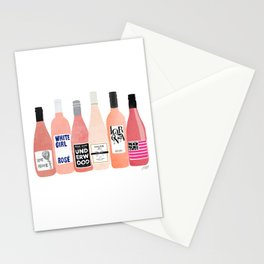 Rose Wine Bottles Stationery Cards