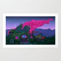 Smokehouse Art Print