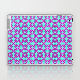 Pink Spurs Hot Pink on Turquoise Cowgirl Spurs Midwestern Ranch Decor Southwestern Design Pattern Laptop & iPad Skin