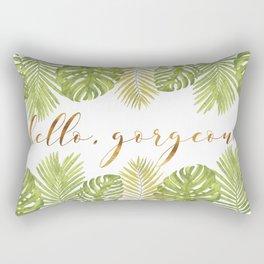 Hello, Gorgeous - Palms Rectangular Pillow