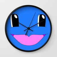 squirtle Wall Clocks featuring Squirtle! by kltj11